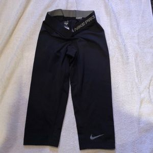 Nike Dri Fit Black Capri Leggings